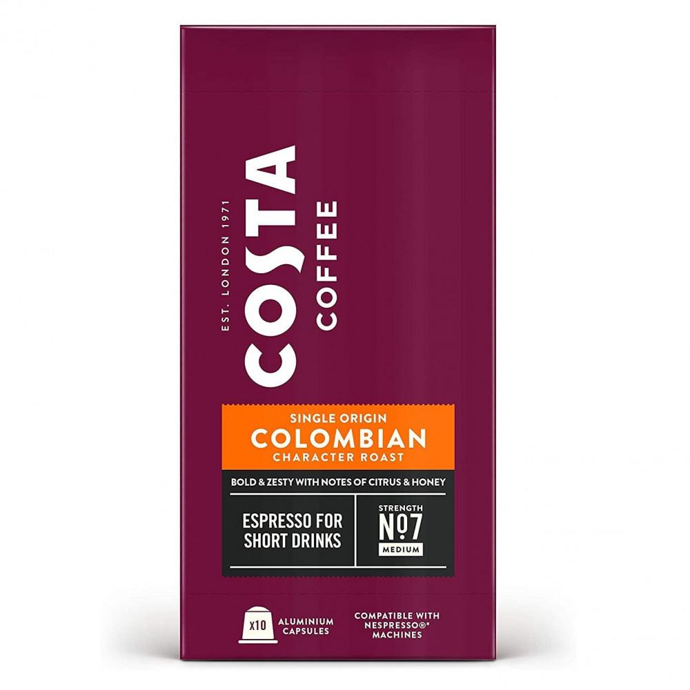 كبسولات كوستا نسبريسو بنكهة كولومبيا - متجر أدوات للقهوة و مستلزماتها