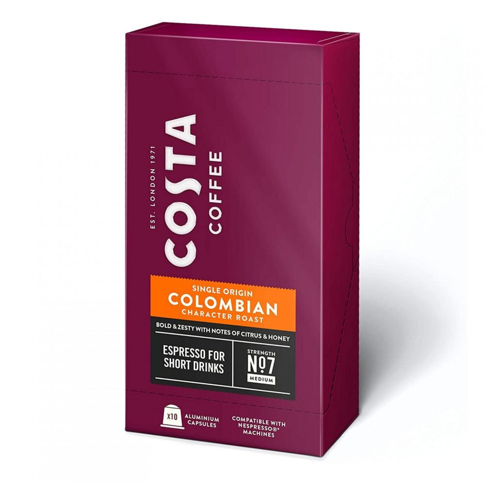 كبسولات قهوة كولومبيا من كوستا متوافقة مع نسبريسو - متجر أدوات للقهوة