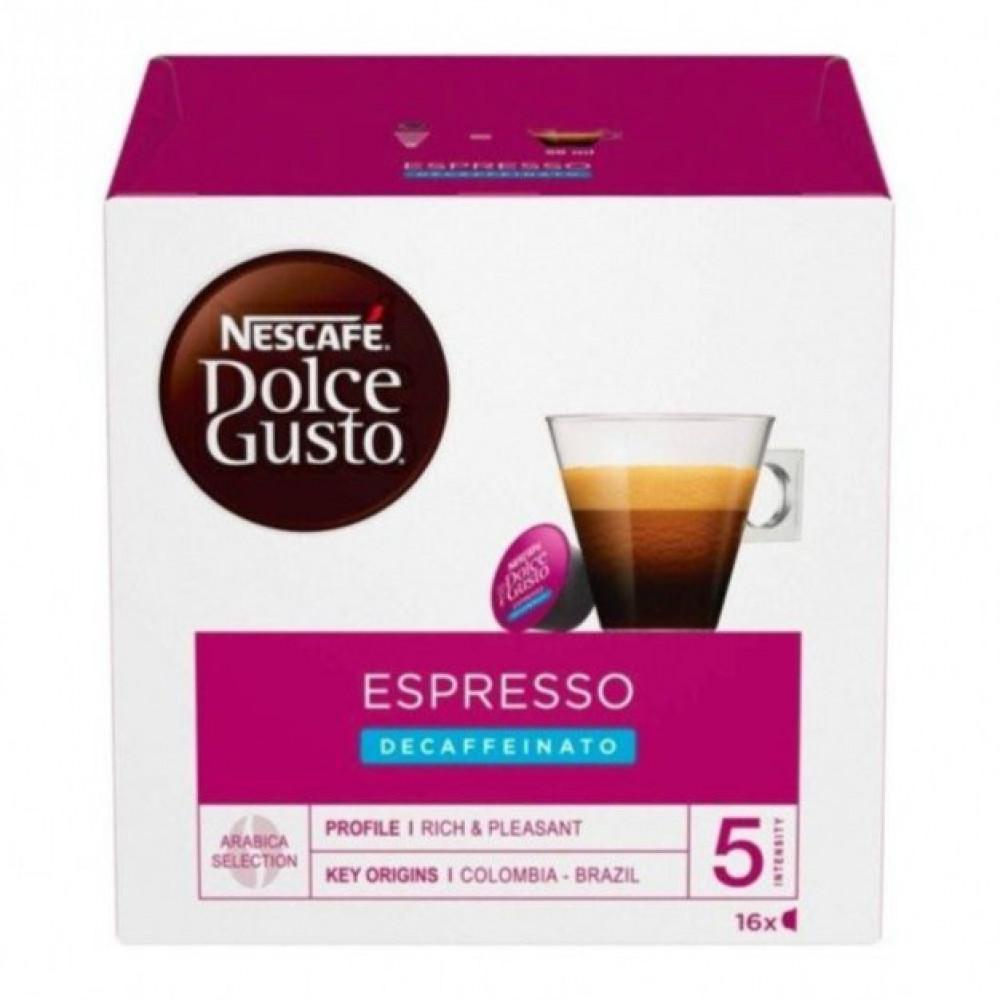 قهوة بدون كافيين - كبسولات اسبريسو منزوع الكافيين من  دولتشي قوستو