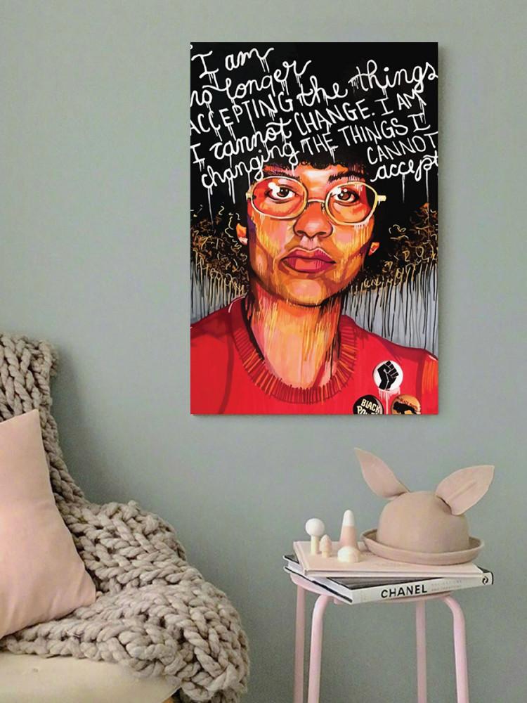 لوحة انجيلا دافيس خشب ام دي اف مقاس 40x60 سنتيمتر