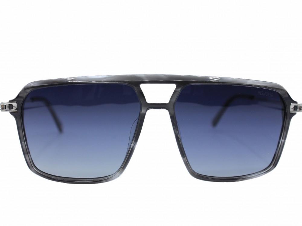 نظاره شمسية مربعه من ماركة  HERMOSSA لون العدسة اسود مدرج للجنسين2021