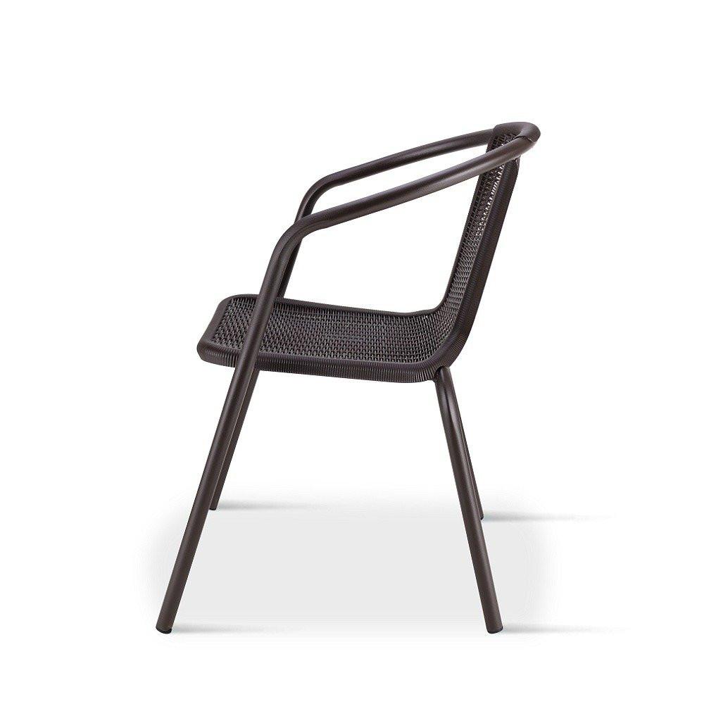 رؤية جانبية لكرسي في طقم كراسي بلون البني المحروق من تجارة بلا حدود