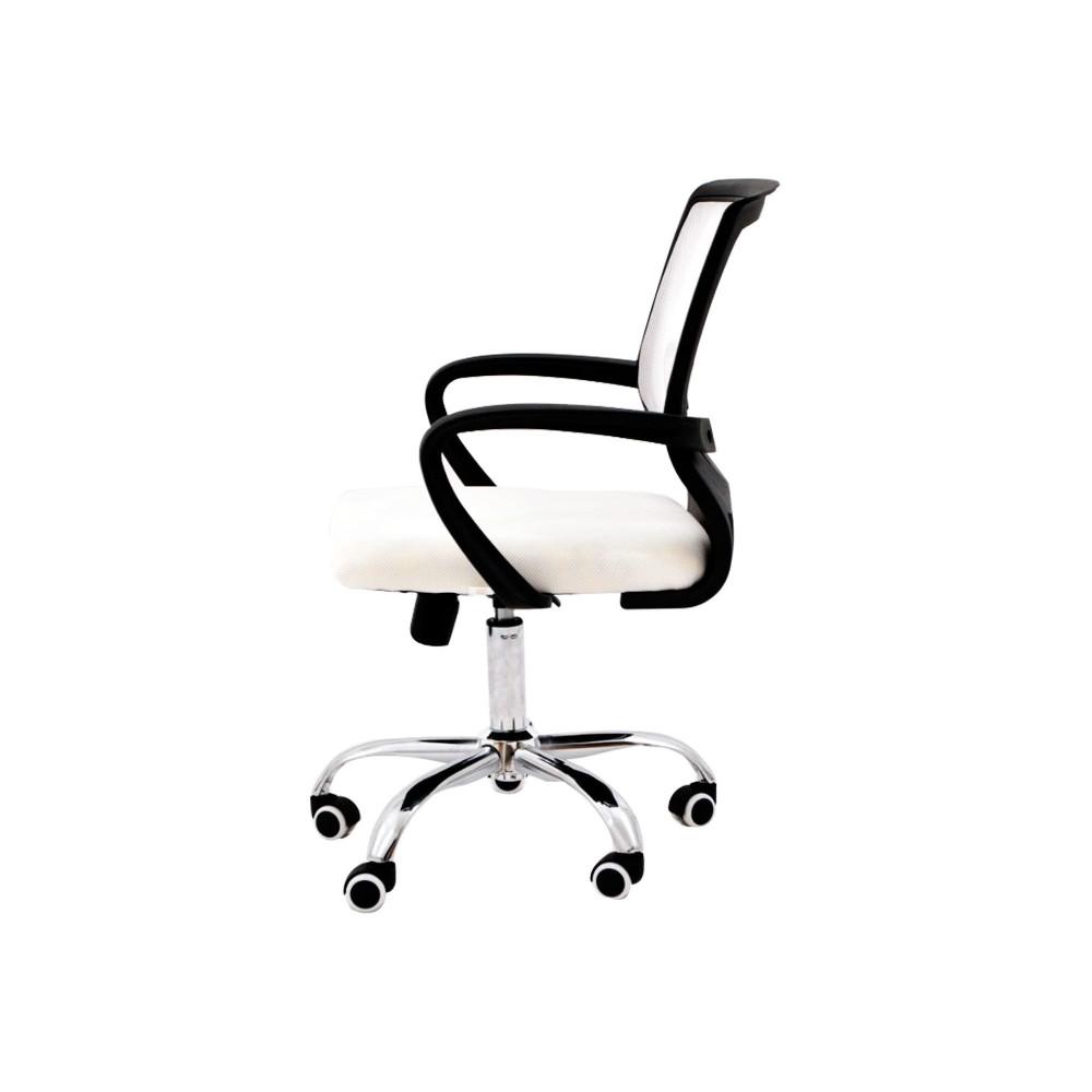 كرسي كاما شبك متحرك ابيض zh-415