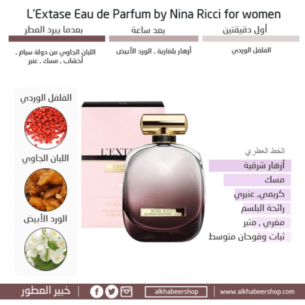 Nina Ricci LExtase Eau de Parfum 80ml خبير العطور