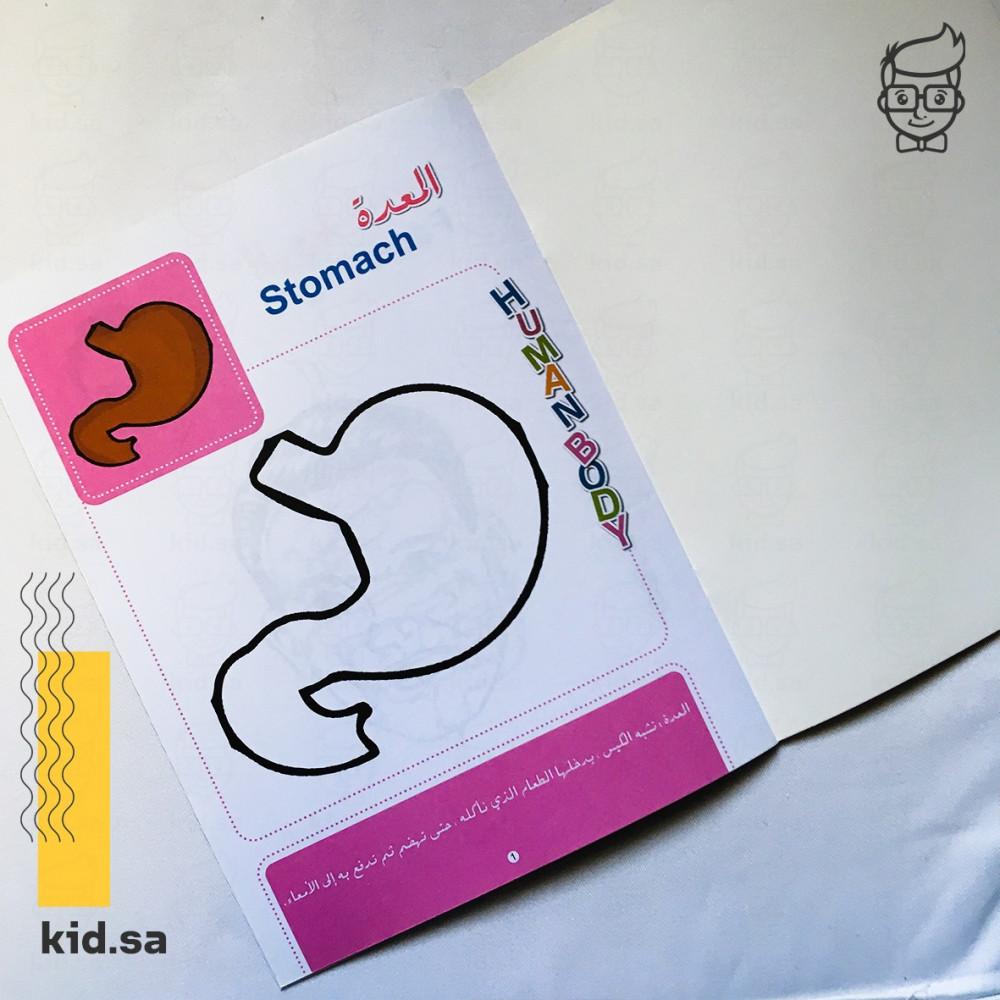 كتاب تعليم جسم الانسان بالتلوين
