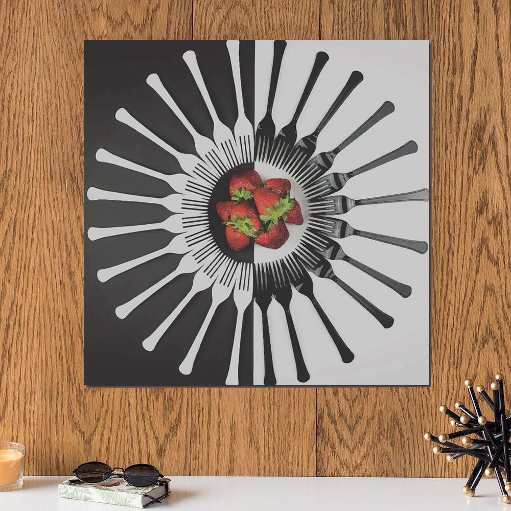 لوحة الفراولة خشب ام دي اف مقاس 30x30 سنتيمتر