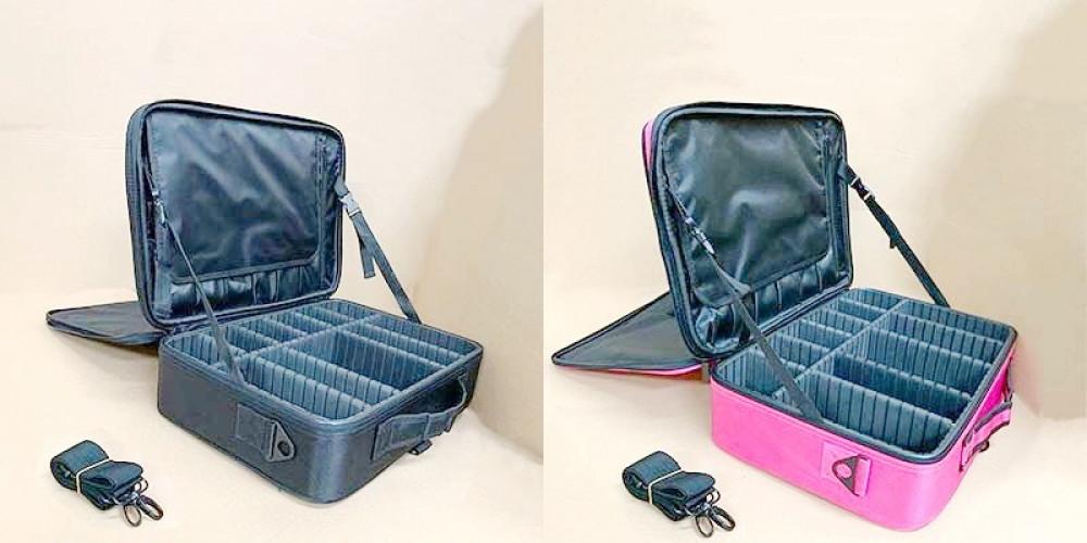 حقيبة شنطة ماكياج مستحضرات التجميل فرش مجوهرات أدوات الزينة وإكسسوارات