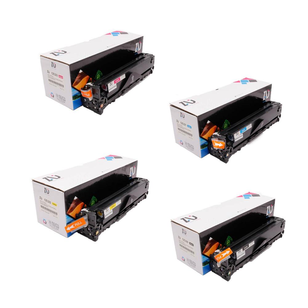 طقم حبر طابعة HP 128A ملون  CE323A CE322A CE321A CE320A