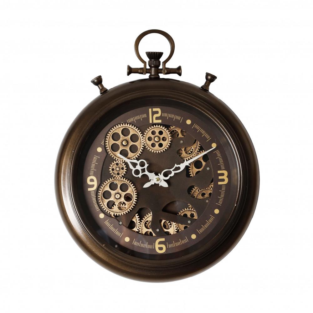 صور ساعات  ساعة حائط موديل ميد نايت انتيك دائرية بتروس صناعة معدنية