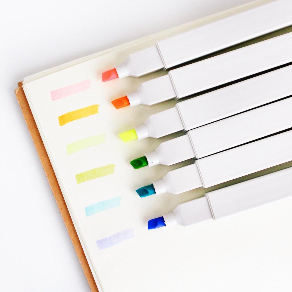 أقلام هايلايتر ملونة أقلام التظهير والماركر طريقة التحديد والمذاكرة