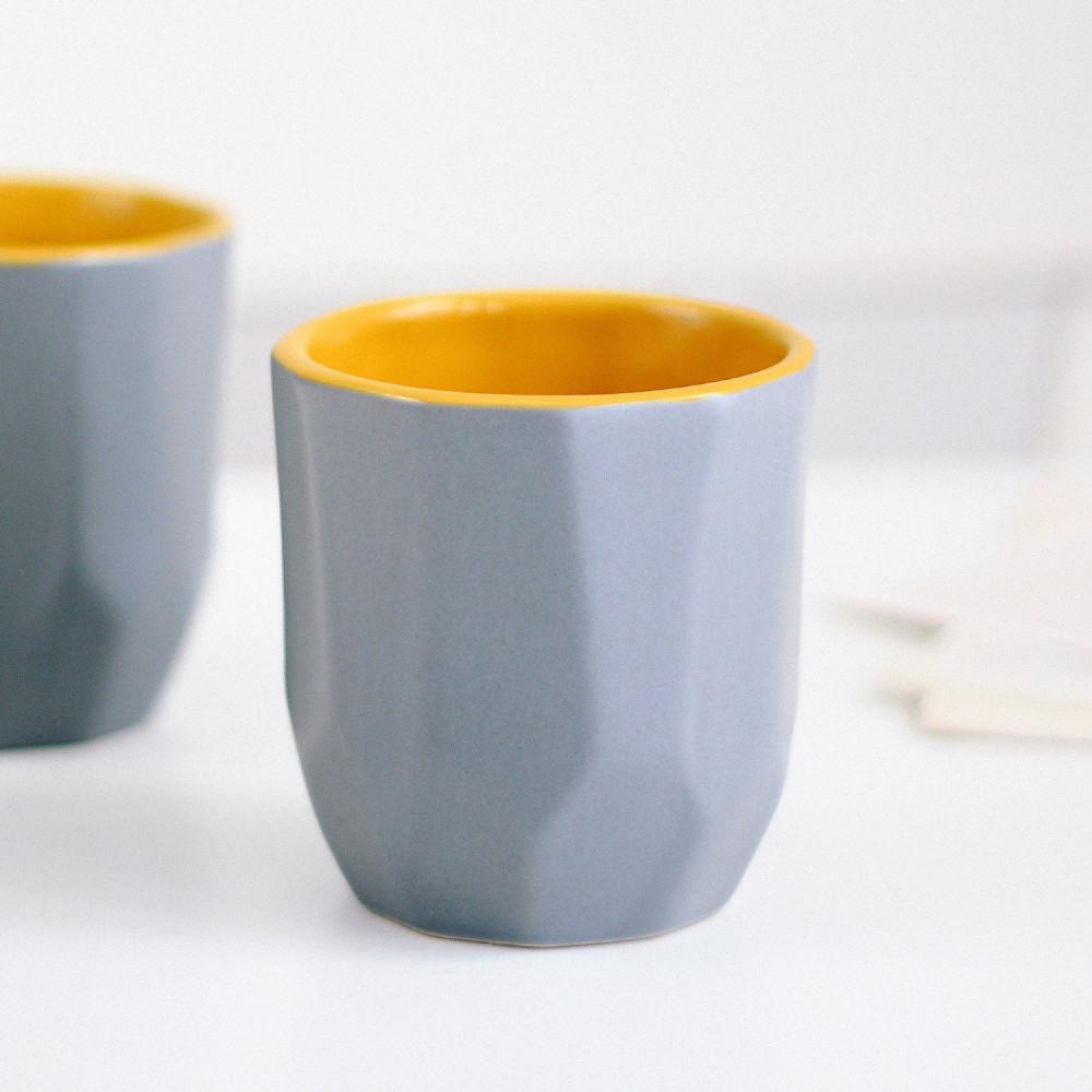 كوب فلات وايت كوب كورتادو شكل هندسي أدوات القهوة المختصة كوب لاتيه