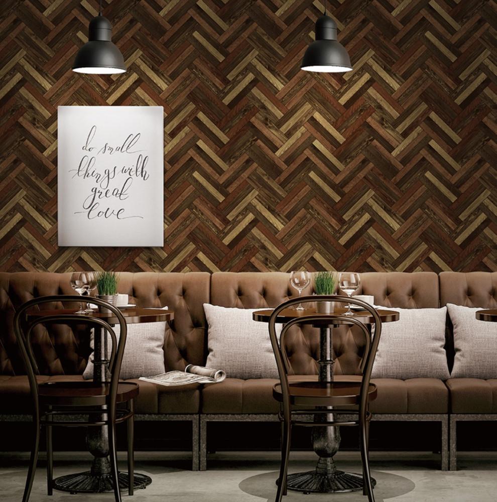 ورق جدران خشب