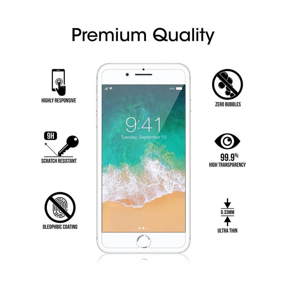 حماية شاشة زجاجية للايفون ايفون 8 بلس