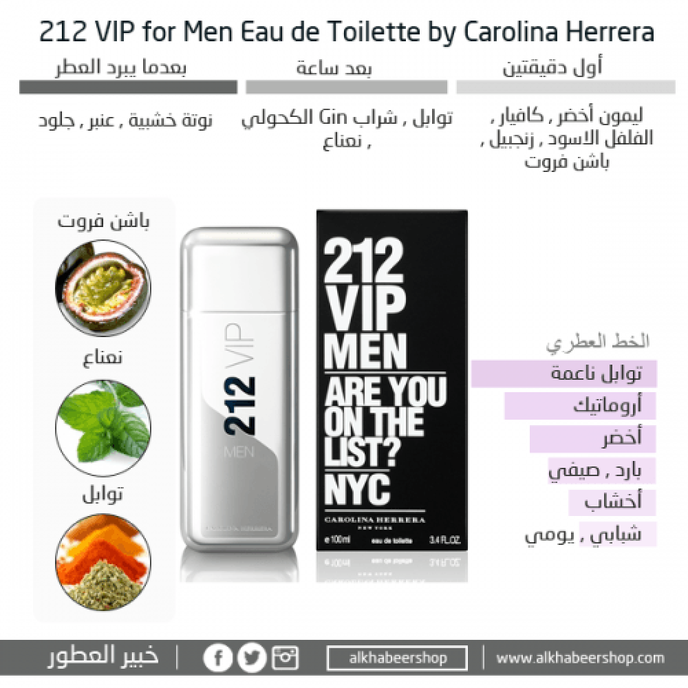 Carolina Herrera VIP 212 Men Eau de متجر خبير العطور