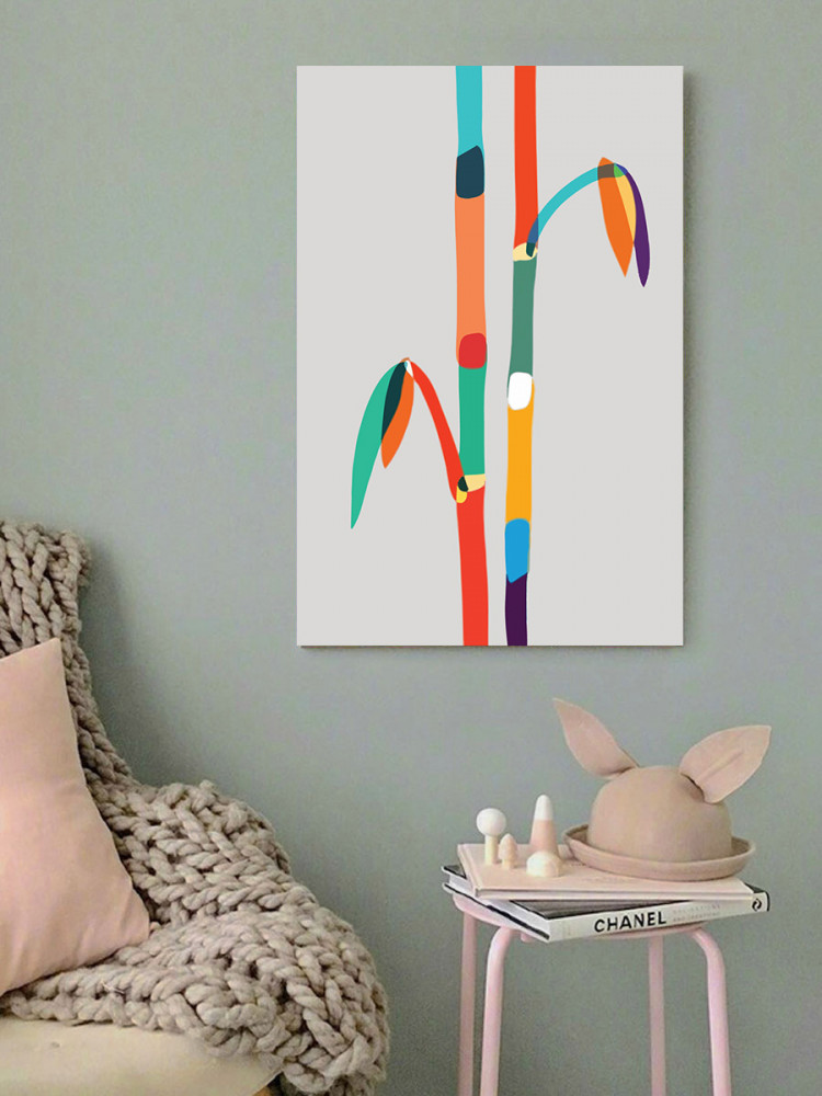 لوحة الخيزران خشب ام دي اف مقاس 40x60 سنتيمتر