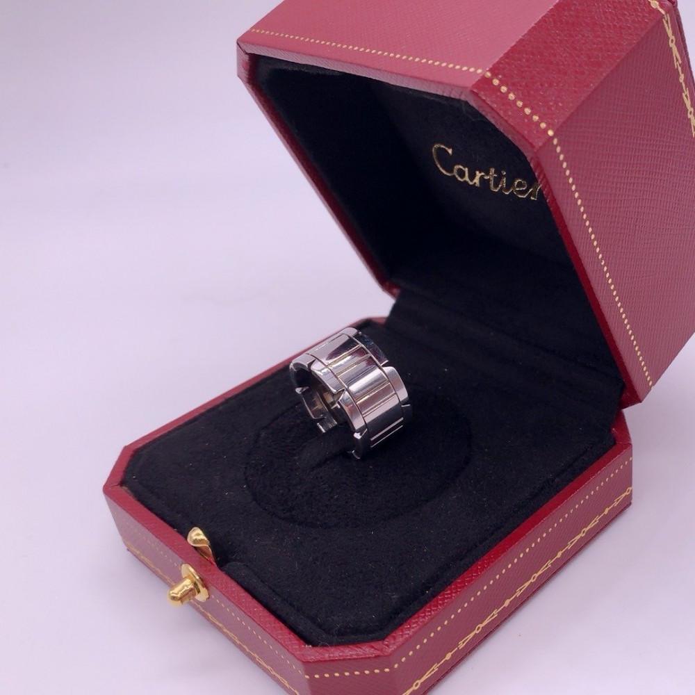 خاتم كارتييه تانك فرانسيز ذهب أبيض الأصلي