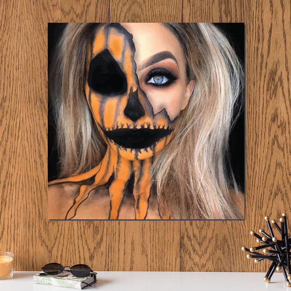 لوحة هالووين ميك اب خشب ام دي اف مقاس 30x30 سنتيمتر