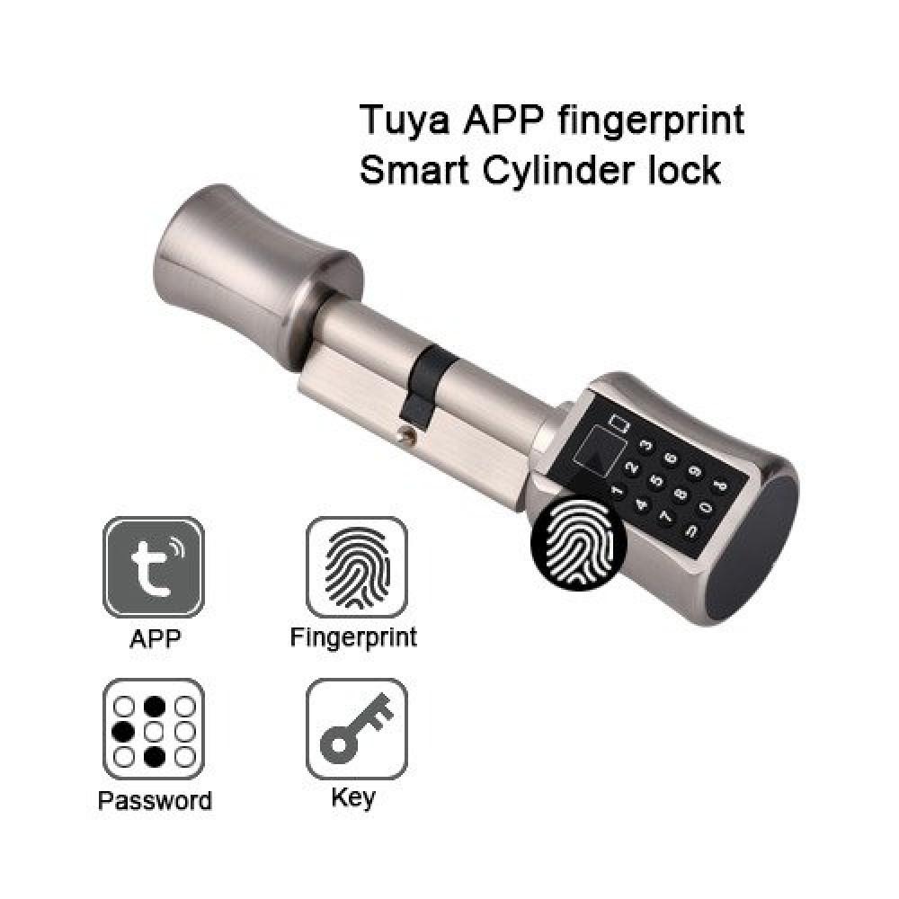 قفل الكتروني ذكي يعمل بالبصمة والمفتاح والتطبيق والرقم السري