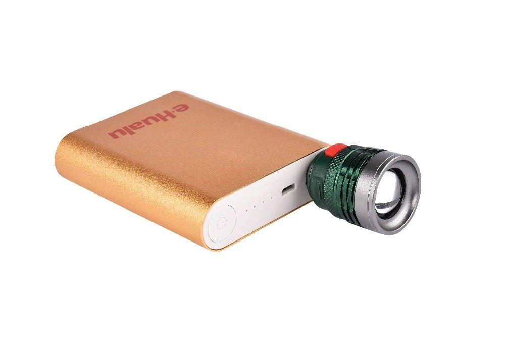 مصباح كشاف ال أي دي يدوي بخاصية التكبير بموصل USB صغير محمول