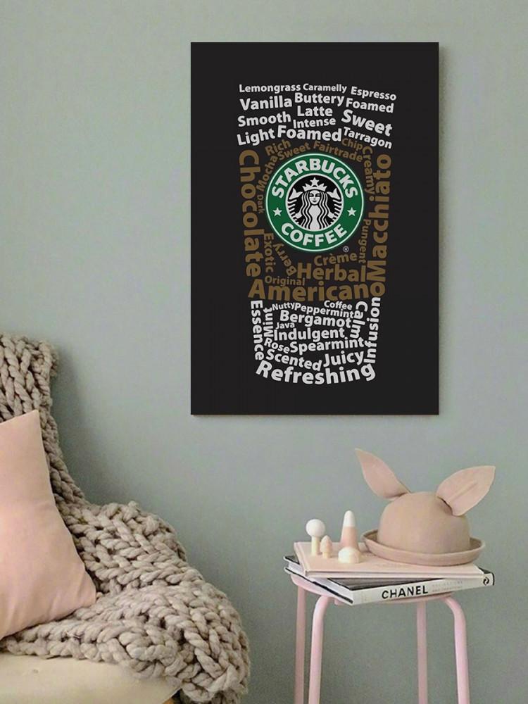 لوحة عشاق ستاربكس خشب ام دي اف مقاس 40x60 سنتيمتر