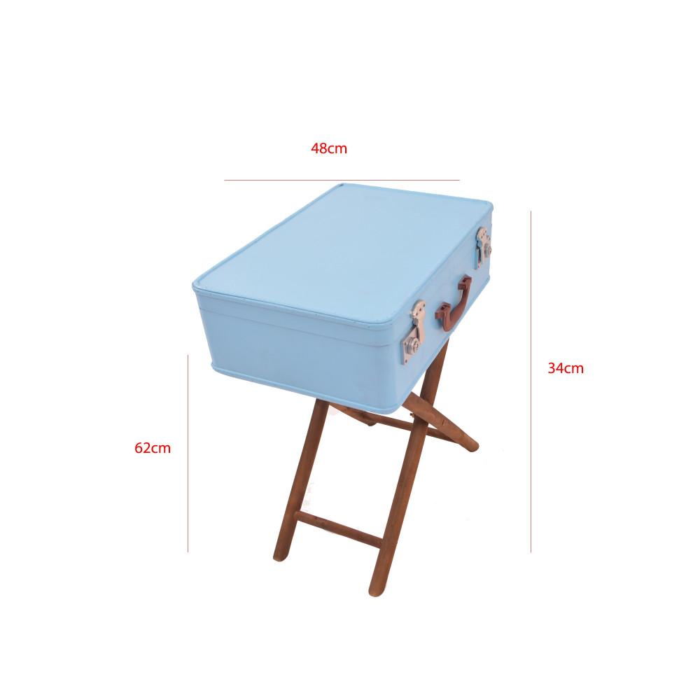 صندوق شنطة ازرق فاتح على استاند خشبي من كاما C-18183KYA