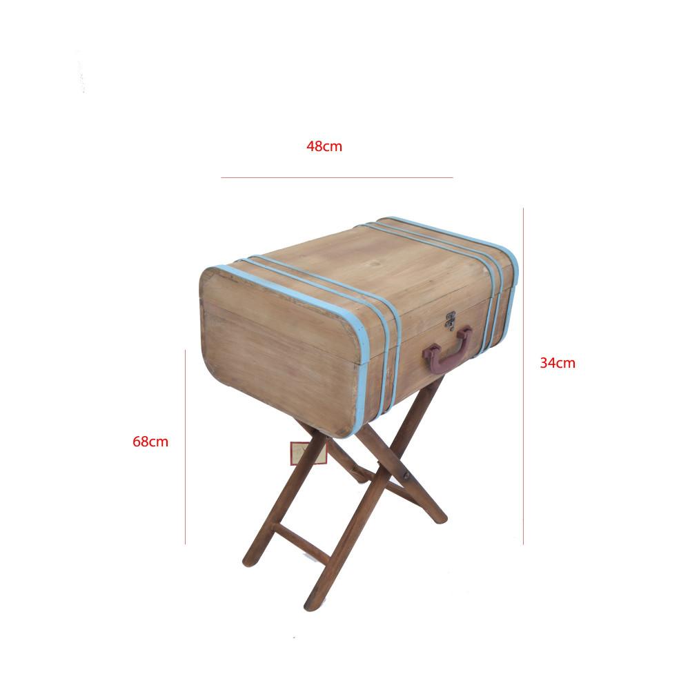 صندوق شنطة خشبي علي استاند خشب من كاما C-20174KY