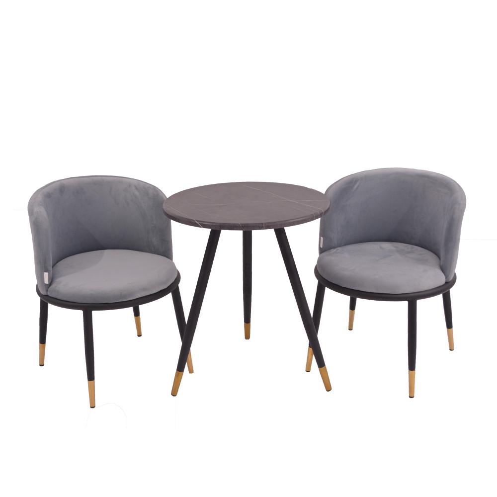 طاولة وكرسين رمادي