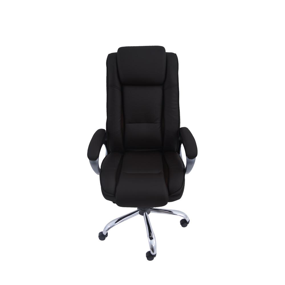 كرسي دوار جلد اسود من كاما C-0042-0074