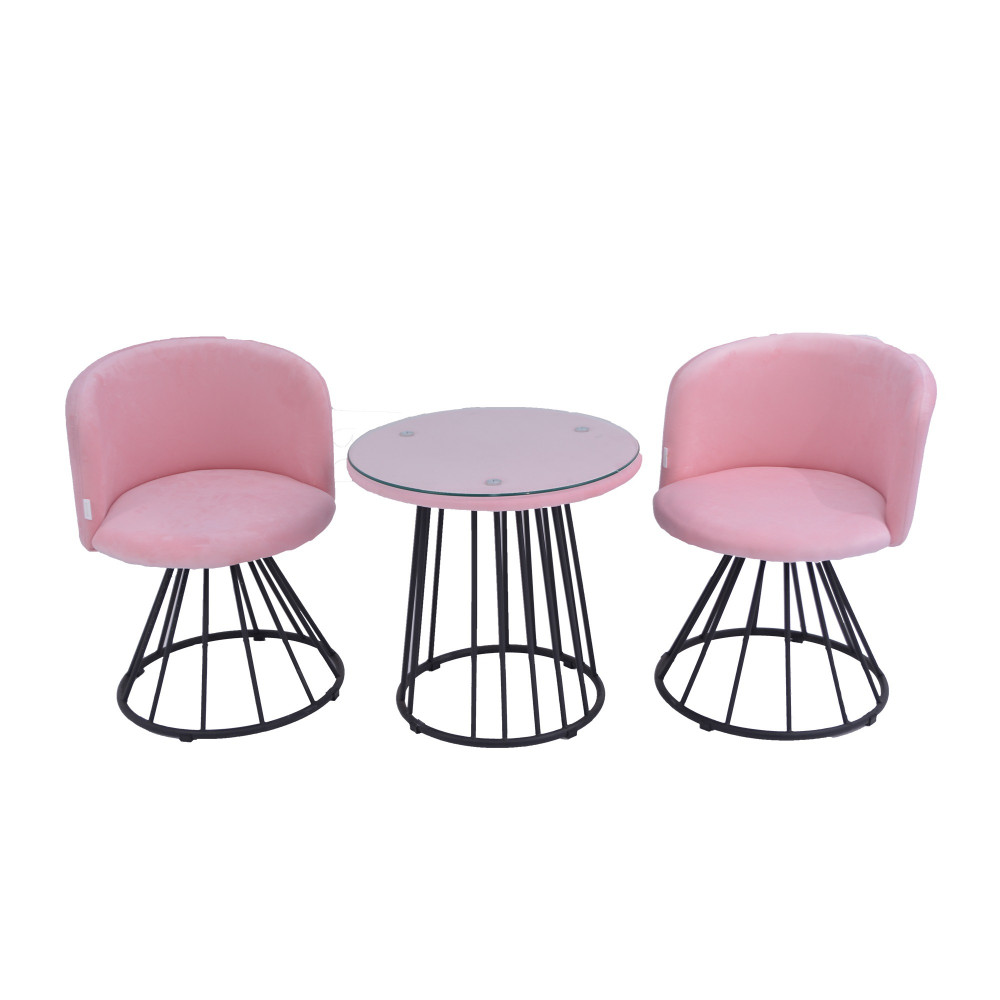 طقم طاولة و 2 كرسي  بنك