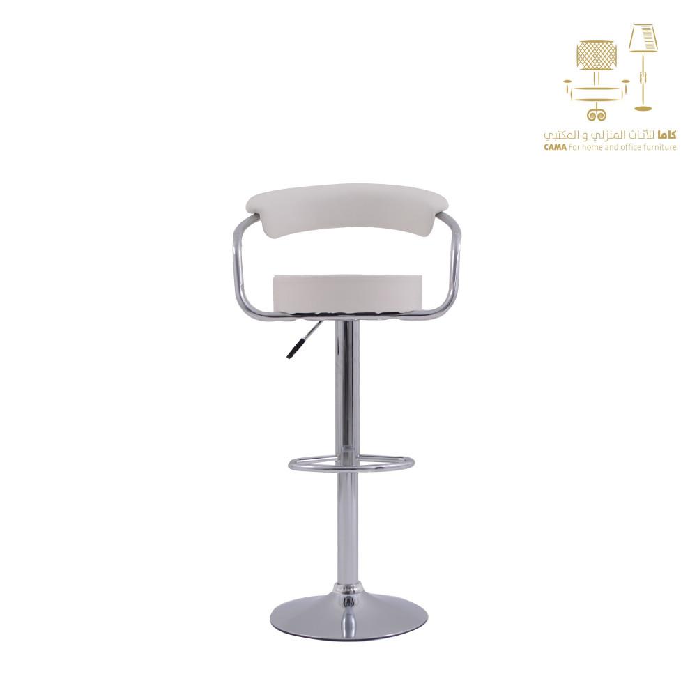 كرسي بار ابيض من كاما C-8007