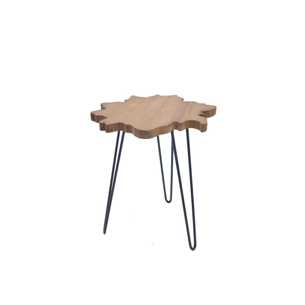 طاولة خدمة خشب علي شكل نجمة بقواعد حديد من كاما C-40401