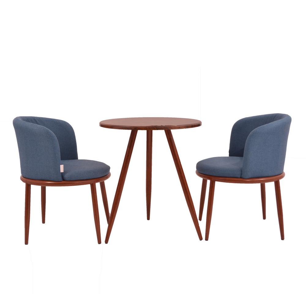 طقم طاولة و 2 كرسي  ازرق
