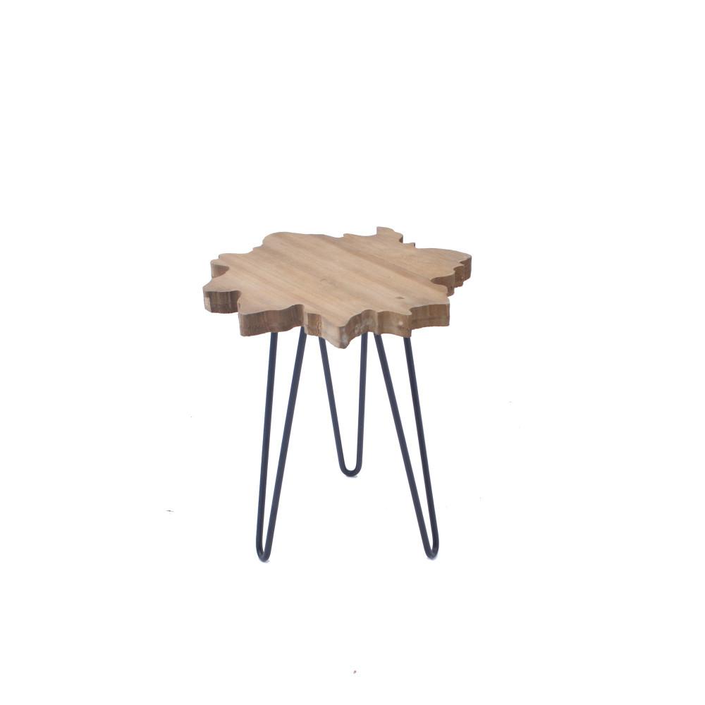 طاولة خدمة خشب على شكل نجمة بقواعد حديد من كاما C-40403