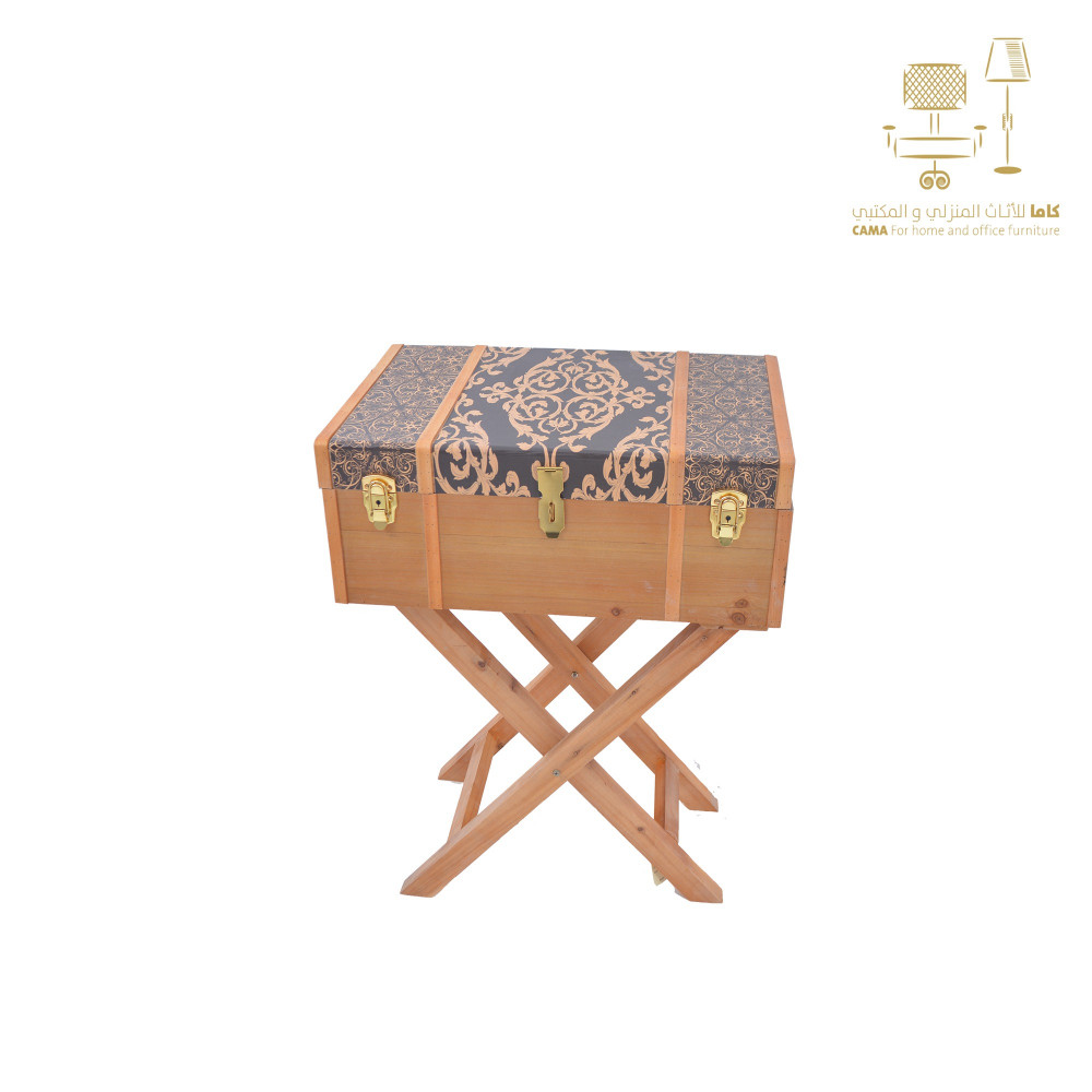 صندوق خشب بني على استاند خشبي من كاما C-2551