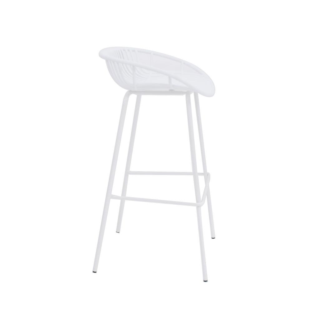 كرسي بار ابيض من كاما C-PP775