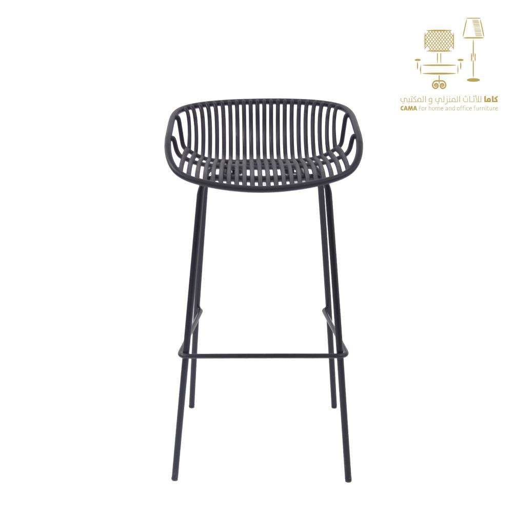 كرسي بار اسود من كاما C-PP775
