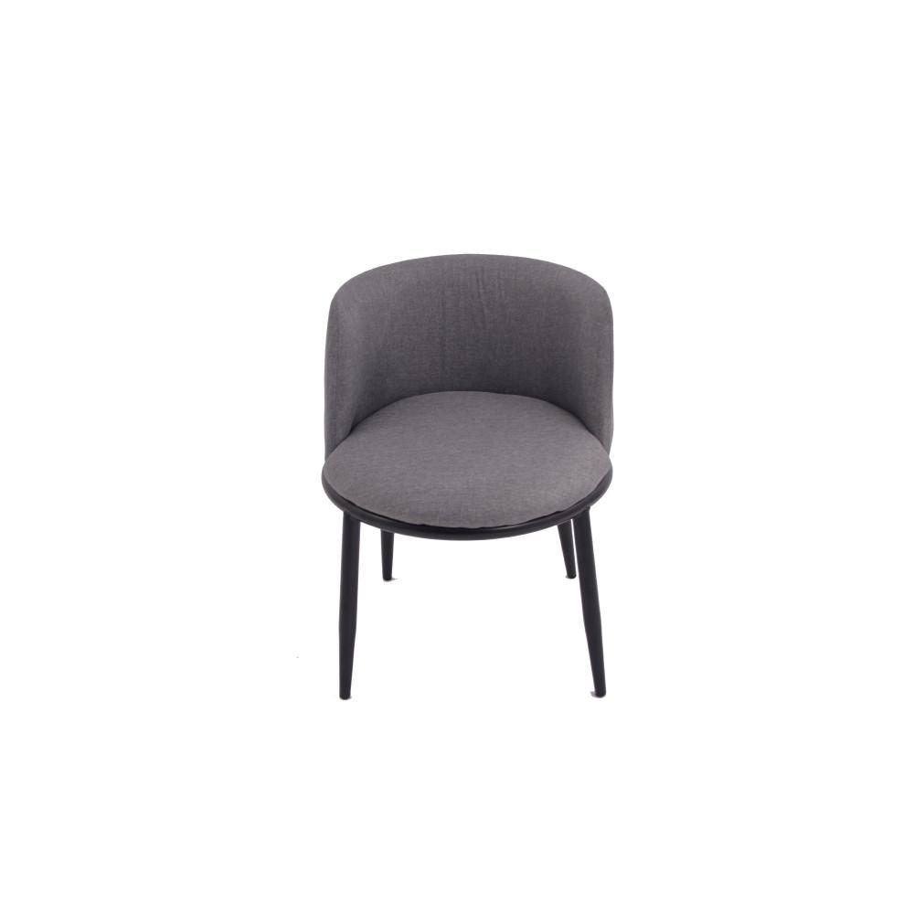كرسي ثابت قماش رمادى من كاما C-KL-Y01