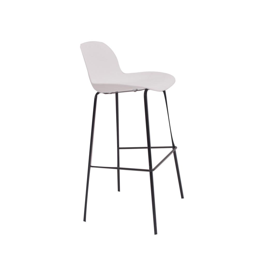 كرسي بار ابيض من كاما C-PP766A