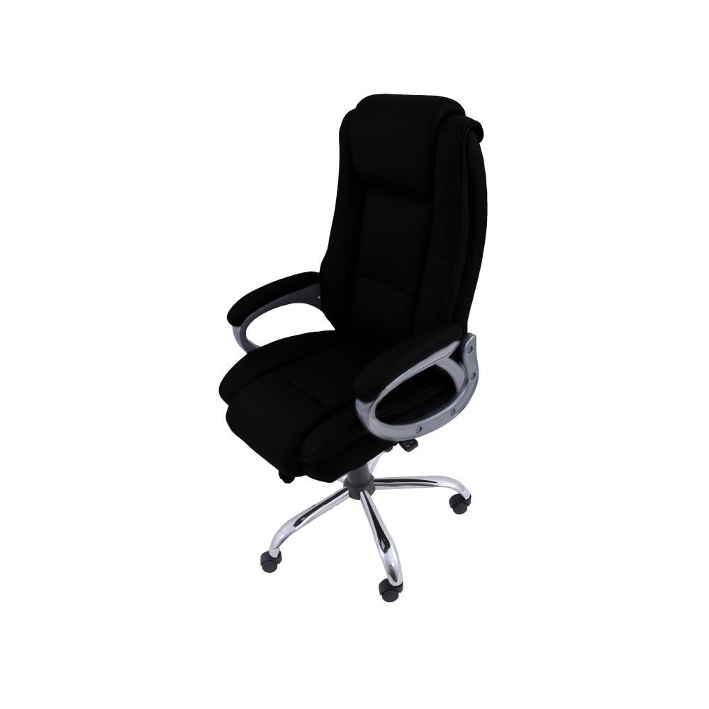 كرسي دوار جلد اسود من كاما