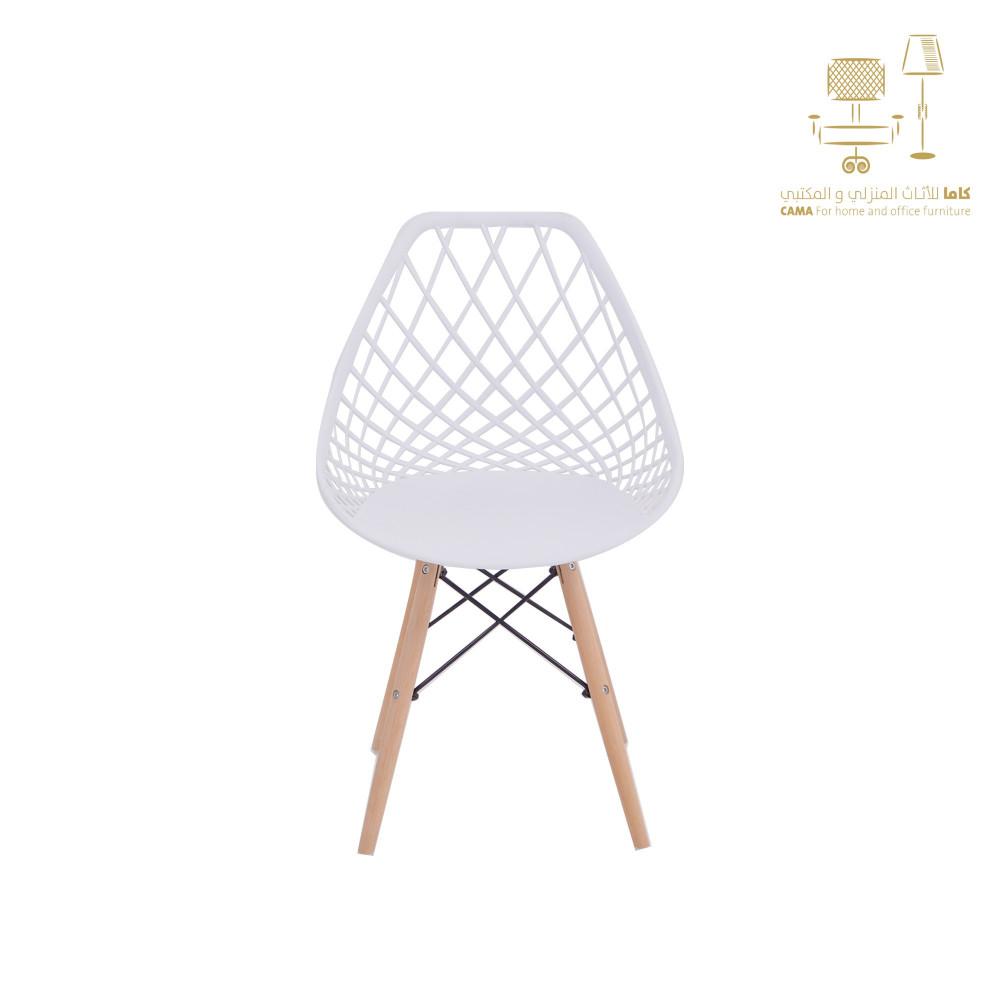كرسي مودرن ثابت ابيض من كاماSC831