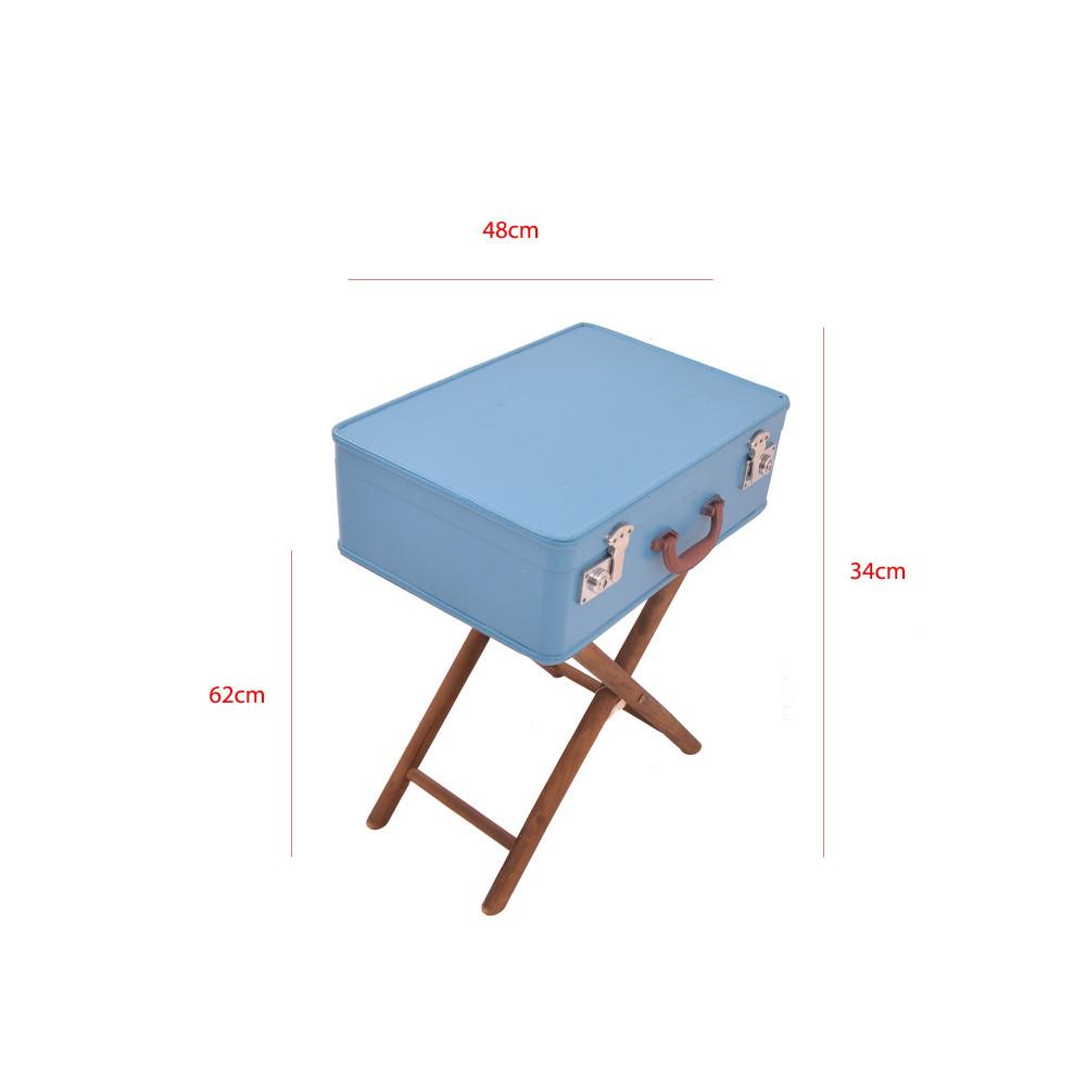 صندوق شنطة ازرق غامق على استاند خشب من كاما C-18183KYD