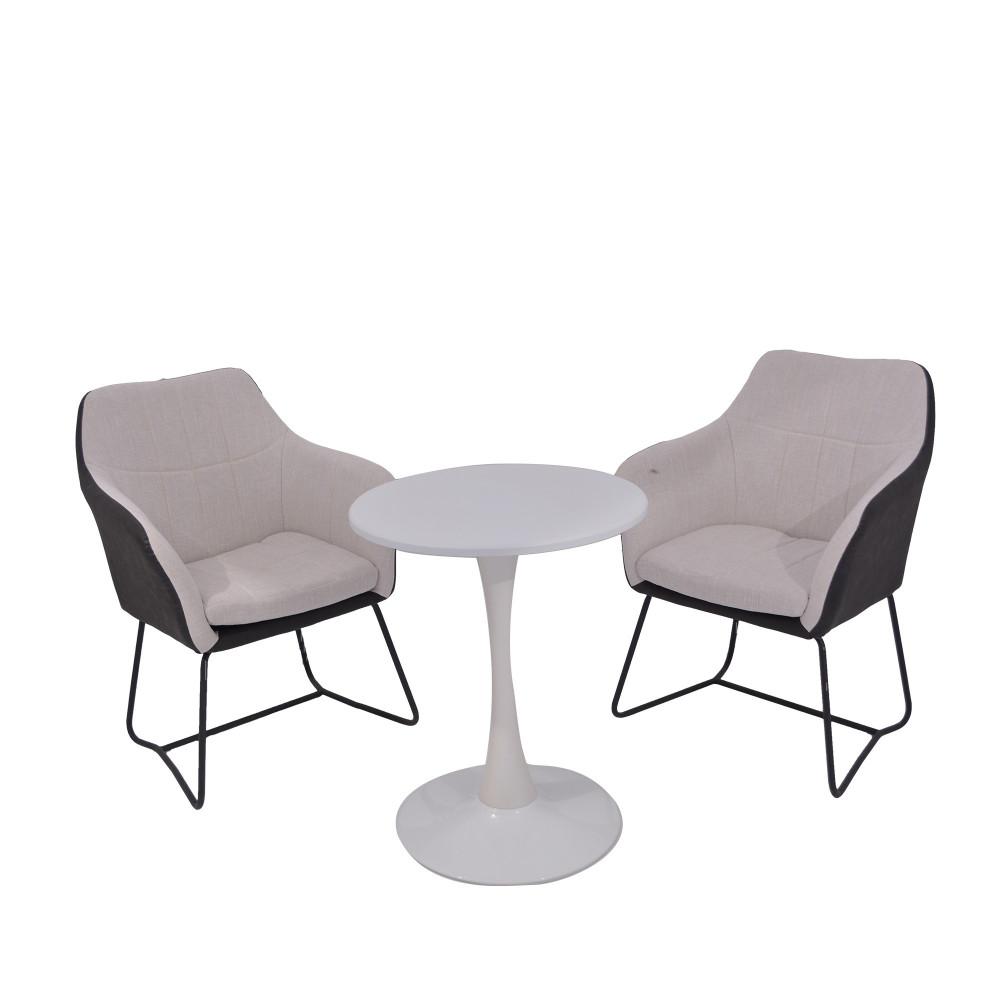 طقم طاولة و 2 كرسي ابيض