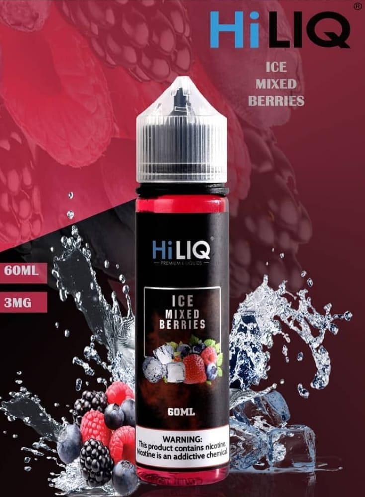 نكهة ايس خليط التوت مع الفراوله من هاي لك 60 مل Hiliq ice mixed berrie