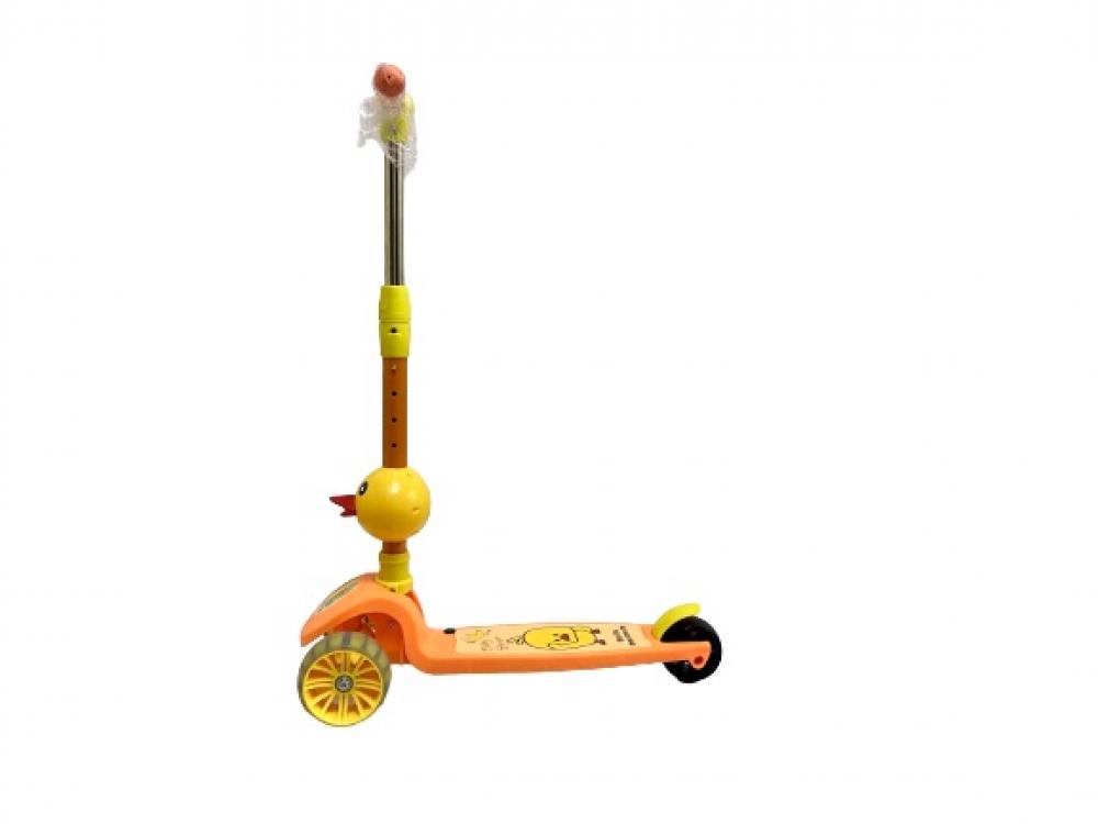 سكوتر دفع قابل للطي بارتفاع قابل للتعديل 3 عجلات بشكل البط
