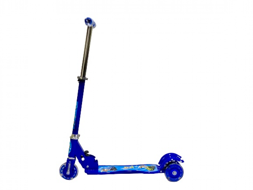 سكوتر دفع قابل للطي بارتفاع قابل للتعديل 3 عجلات