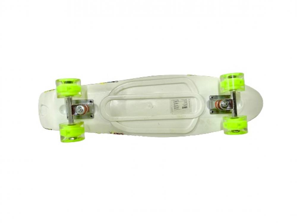 كول كيدز لوح تزلج من الخشب مزود بإضاءة LED
