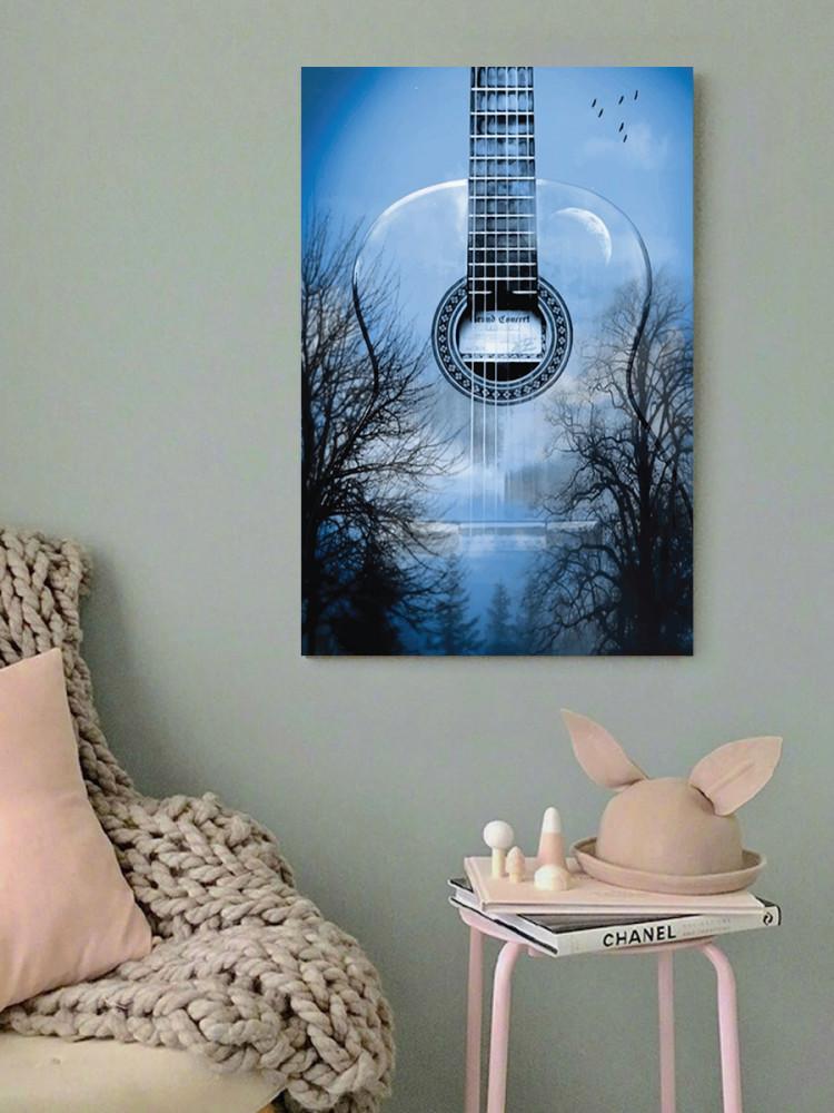 لوحة الجيتار خشب ام دي اف مقاس 40x60 سنتيمتر