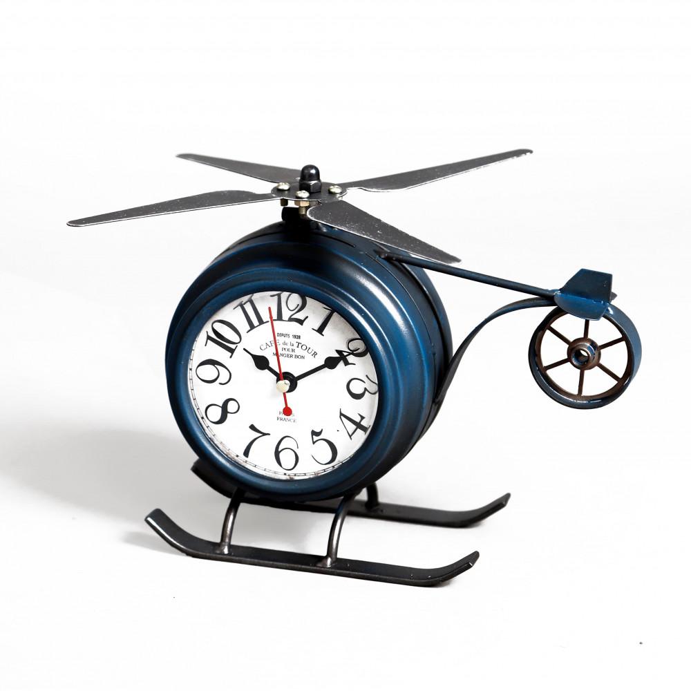 صور ساعة طاولة أنتيكة موديل بلان شكل طائرة صناعة معدنية قديمة التصميم