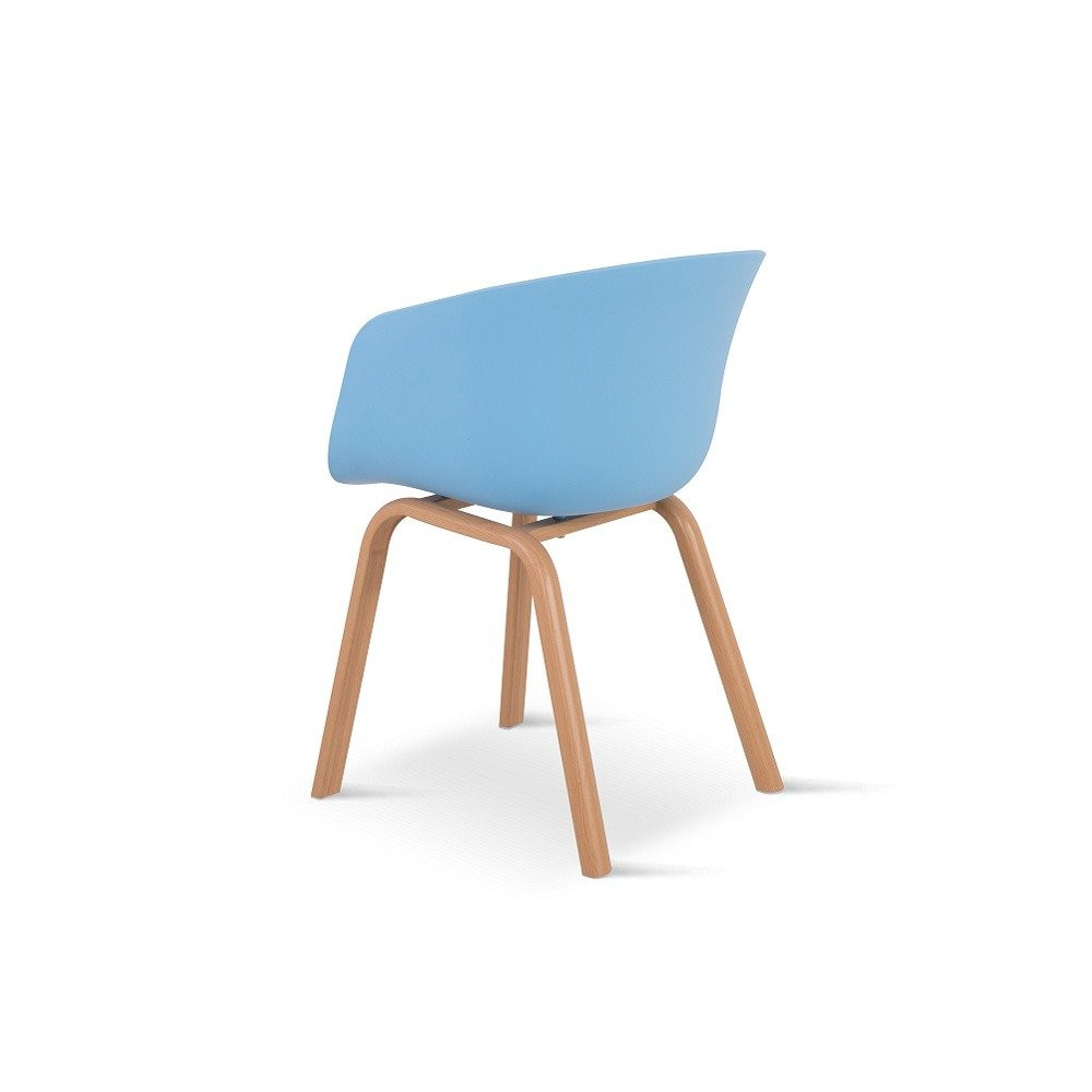 كرسي بلاستيك من مواد عالية الصنع في طقم كراسي 4 قطع لون أزرق من يوتريد
