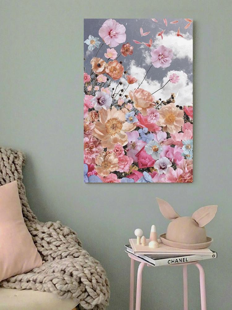 لوحة الورد خشب ام دي اف مقاس 40x60 سنتيمتر